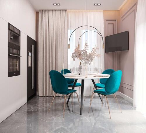 Дизайн котеджу в с.Вислобоки Площа: 130м2 Стиль: сучасна класика
