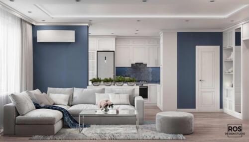 Дизайн квартири в м.Ірпінь Площа: 59м2 Стиль: сучасна класика