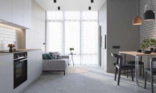 Дизайн квартири в м.Київ. Площа 79м2, Стиль сучасний мінімалізм